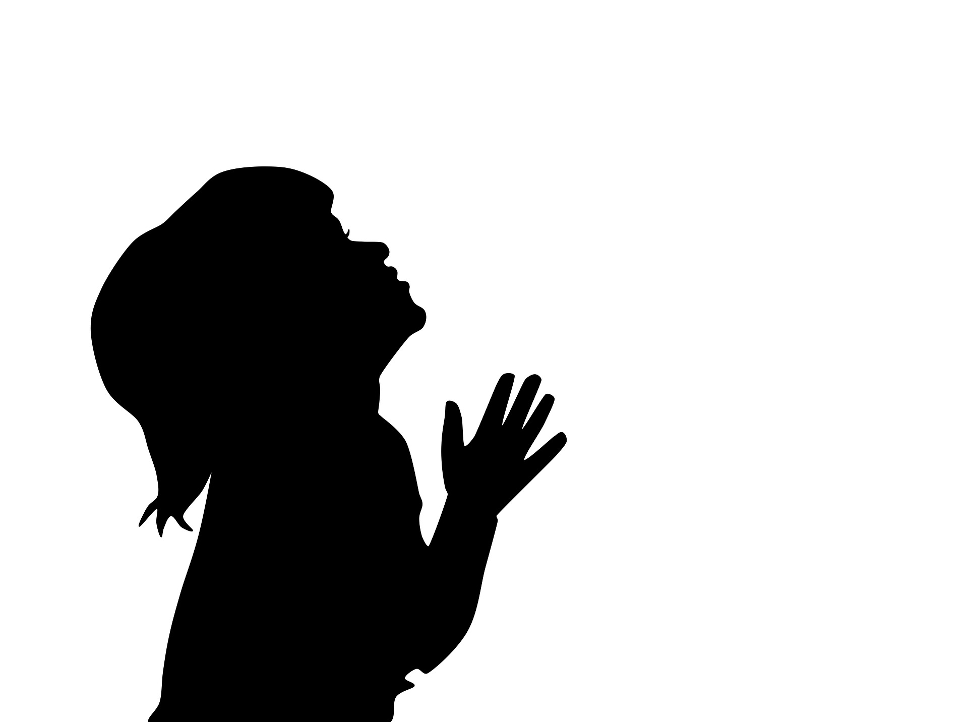 Child Silhouette Praying